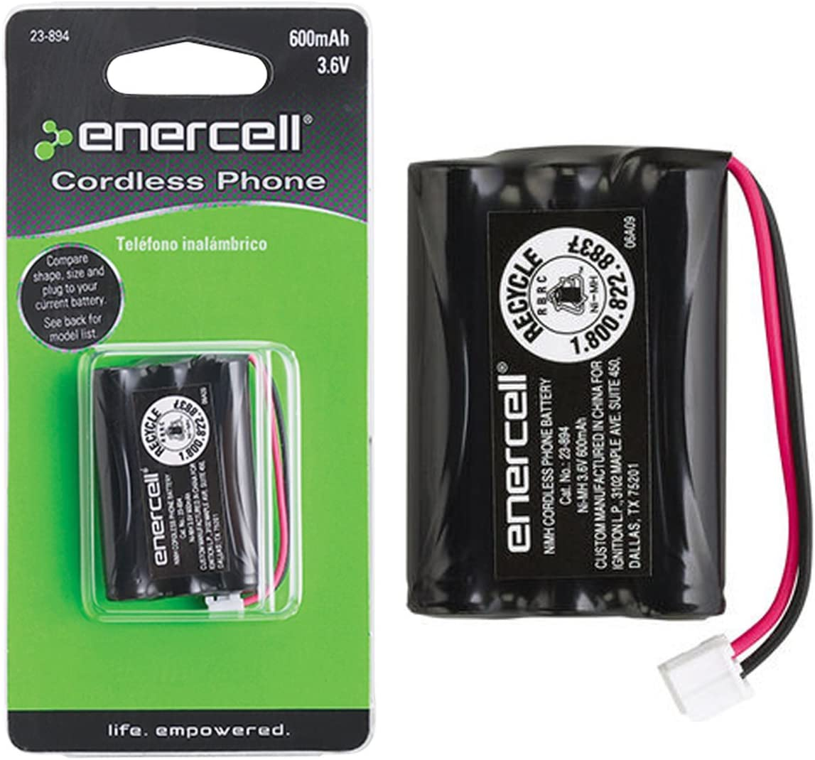 Enercell 3.6V 600mAh Ni-MH Cordless Max 56% OFF 2300894 E Phone Easy-to-use by Battery