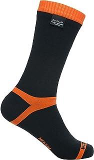 Dexshell, HYTHERM PRO - Calcetines impermeables unisex de media pantorrilla, color negro y naranja
