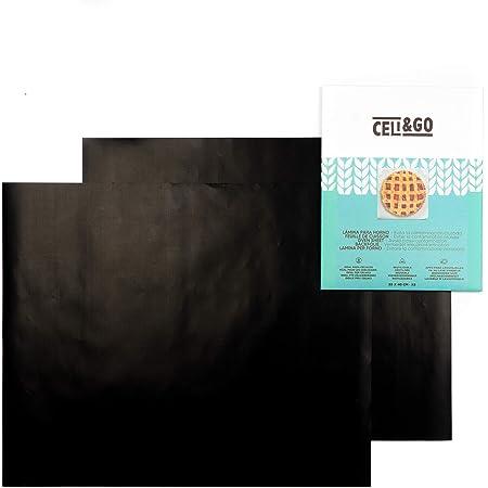 CELI&GO 2 Tapis de Cuisson pour Four Plaque Feuilles de Cuisson Four Feuille pour Grill Anti-Adhésifs, Réutilisables, Lavables, Sans PFOA, Évite la Contamination Croisée, 40 x 33 cm