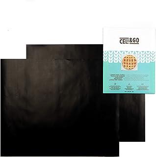 CELI&GO 2 Tapis de Cuisson pour Four Plaque Feuilles de Cuisson Four Feuille pour Grill Anti-Adhésifs, Réutilisables, Lava...