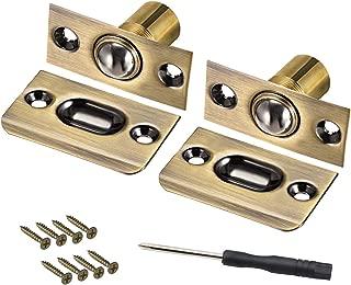 SAISN Ball Catch Door Hardware Closet Door Ball Latch Adjustable Spring Cabinet Latch French Door Catches 2 Pack (Bronze)