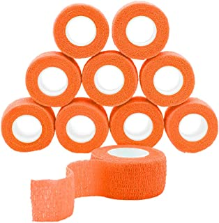 featured product GooGou Self Adhesive Bandage Finger Tape Rolls Non-woven Ventilate Flexible Wrap for Sprain Swelling and Soreness on Wrist and Ankle 10PCS 1 in X 14.7 ft (orange)