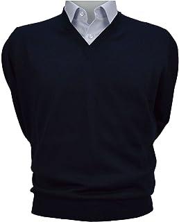Iacobellis Maglione Uomo Pullover Scollo V Misto Lana Merinos Extrafine Made in Italy