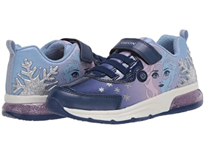 Geox Kids Frozen Spaceclub 7 (Little Kid/Big Kid) (Navy/Lilac) Girl