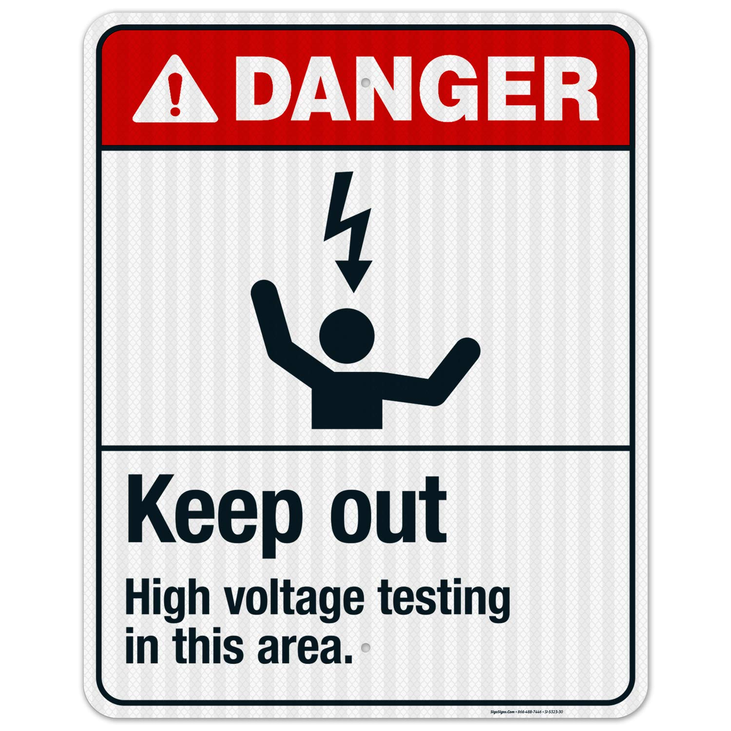 Keep Out High Voltage Testing free shipping in ANSI Danger Sign High material Sig This Area