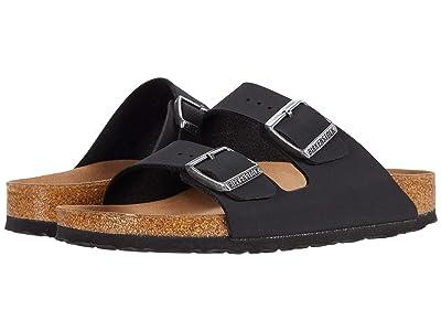 Birkenstock Arizona Vegan (Black Birkibuc) Sandals