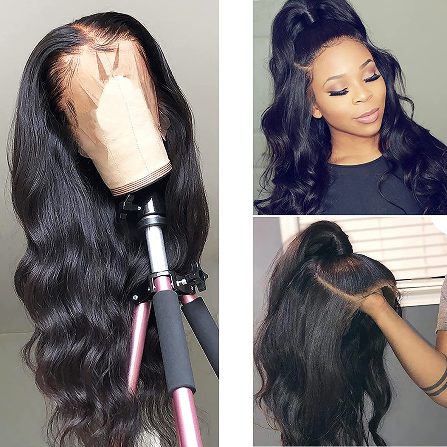 GETD Human Hair Wigs 360 Popular brand Frontal In stock Lace Plucked Brazilian Pre