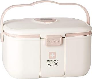 ESTETHI Caja de Medicamentos, organizador de primeros auxilios con asa y compartimento extraíble, 28 x 18 x 17 cm, capacid...