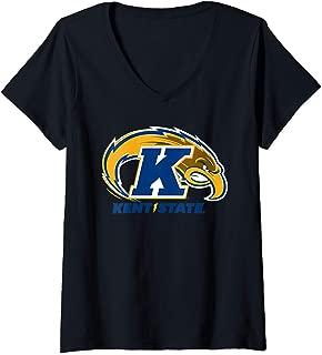 Womens Kent State University Golden Flashes NCAA RYLKST06 V-Neck T-Shirt