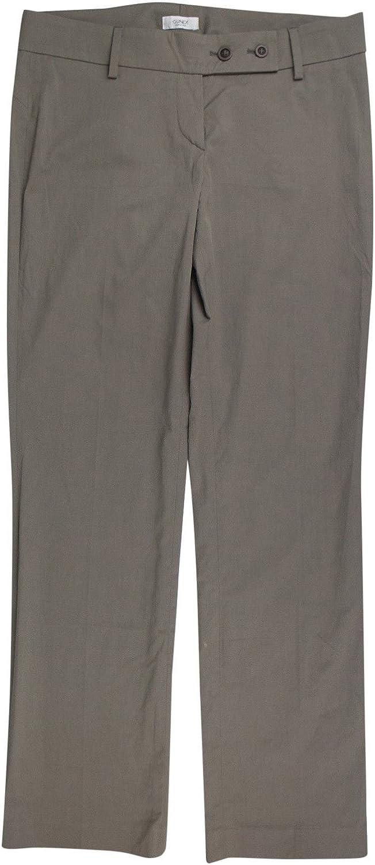 Brunello Cucinelli Gunex Women's Khaki Cotton Casual Pants 6 42
