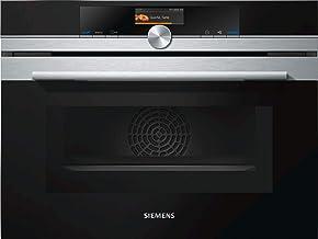 Siemens CM636GBS1 - Microondas (Integrado, 45 L, 1000 W, Tocar, Negro, Plata, TFT)