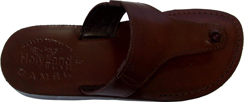Holy Land Market Unisex Leather Biblical Flip Flops (Jesus - Yashua) Jerusalem Style IV