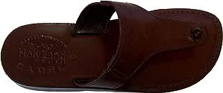 Unisex Leather Biblical Flip Flops (Jesus - Yashua) Jerusalem Style IV