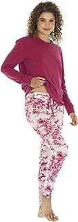 Tops & Bottoms Pijama para Mujer de Pantalon Estampado y Playera de Manga Larga