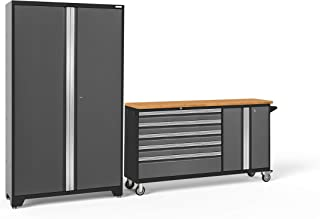 NewAge Products Bold 3.0 Gray 2 Piece Set, Garage Cabinets, 50500