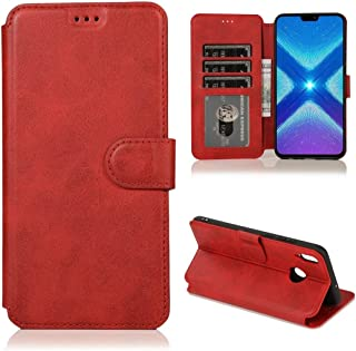 Multifunctional leather case For Huawei Honor 8X Calf Texture Magnetic Buckle Horizontal Flip Leather Case with Holder & C...