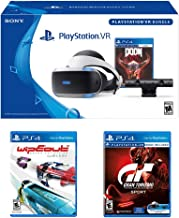 PlayStation VR Racing Bundle (4 Items): PlayStation VR Headset, PSVR Camera, PSVR Gran Turismo Bundle Game, PSVR Wipeout Omega Collection Game