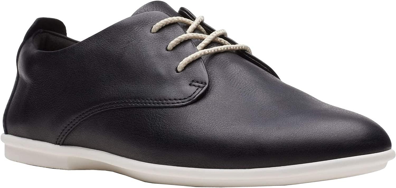 Clarks Damen Un Coral Lace Casual Schuh, Schwarz (schwarzes Leder), 37.5 EU