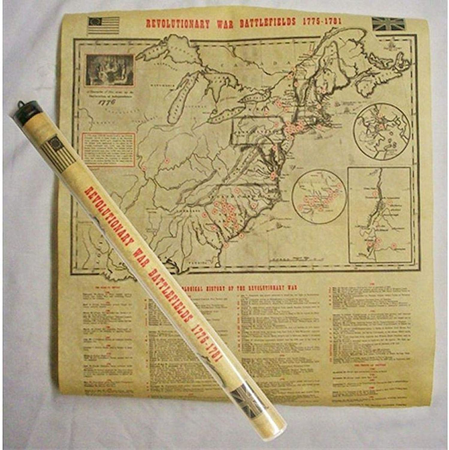 Historic U.S. Document Reproduction  Revolutionary War Map
