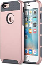 ULAK iPhone 6s Case, iPhone 6 Case, Colorful Series Slim Hybrid Dual Layer Scratch Resistant Hard Back Cover Shock Absorbent TPU Bumper Case for Apple iPhone 6/6s 4.7 inch (Rose Gold+Grey)