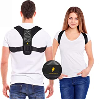 Posture Corrector for Women and Men - Adjustable Shoulder Support Brace - Back Straightener - Relief from Neck and Clavicl...