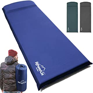 Powerlix Sleeping Pad – Self-Inflating Foam Pad Insulated 3inches Ultrathick Mattress for Camping, Backpacking, Hiking - U...