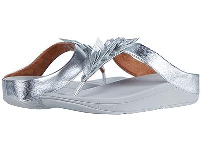 FitFlop Fino Leaf Toe-Thongs (Silver) Women