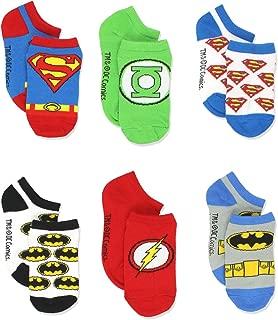 Justice League Superhero Boys 6 pack Socks
