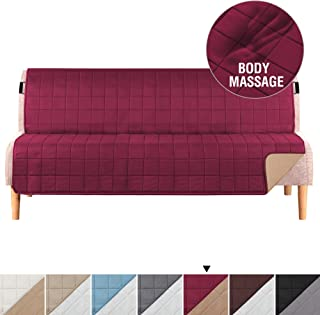 H.VERSAILTEX Reversible Futon Covers for Living Room, Non-Slip Futon Covers for Dogs, Foam Quilted Futon Slipcover with 2