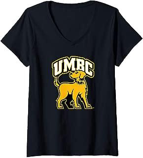 Womens UMBC Retrievers NCAA PPUMC03 V-Neck T-Shirt
