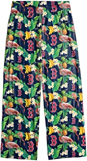 Boston Red Sox Women's Scatter Pattern Floral Pajama Lounge Pants
