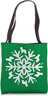 Briard Gift Snowflake Dog Briard Christmas Tote Bag