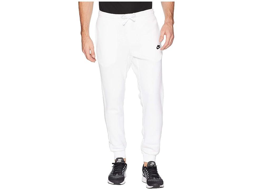 Nike Sportswear Fleece Jogger (White/Black) Men