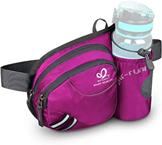Waterfly Hiking Waist Bag Fanny Pack with Water Bottle Holder for Men Women Running &..