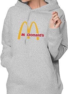 Women's Casual McDonalds Sweatshirt Tee T Shirt Long Sleeve Cotton T-Shirt Hooded Shirts Women Pullover Hoodie