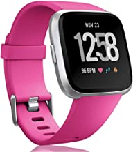 MJoffee Bands Compatible with Fitbit Versa SmartWatch, Versa 2 and Versa Lite SE Watch for Women Men, Small and Large (Hot...