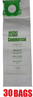 30 Sebo, Windsor Sensor Micro-Lined Commercial Upright Vacuum Bags, Fits 5093AM, 5300. 30 Pack.