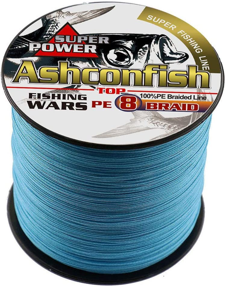 Ashconfish Braided Fishing Line-8 Strands Super Strong Fishing Wire 300M//328Yards-Abrasion Resistant Braided Lines-Incredible Superline-Zero Stretch-Superfine Diameter