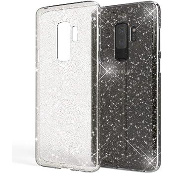 Cover per Samsung Galaxy S9 Plus Nero Protezione in Glitter Soft Flessibbile