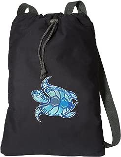 Sea Turtle Drawstring Backpack RICH CANVAS Turtle Cinch Bag