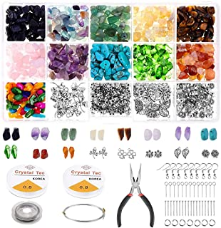 1046Pcs Crystal Chip Beads and Jewelry Making Gemstones Kit for Jewelry Earring Necklace and Bracelets Making Supplies