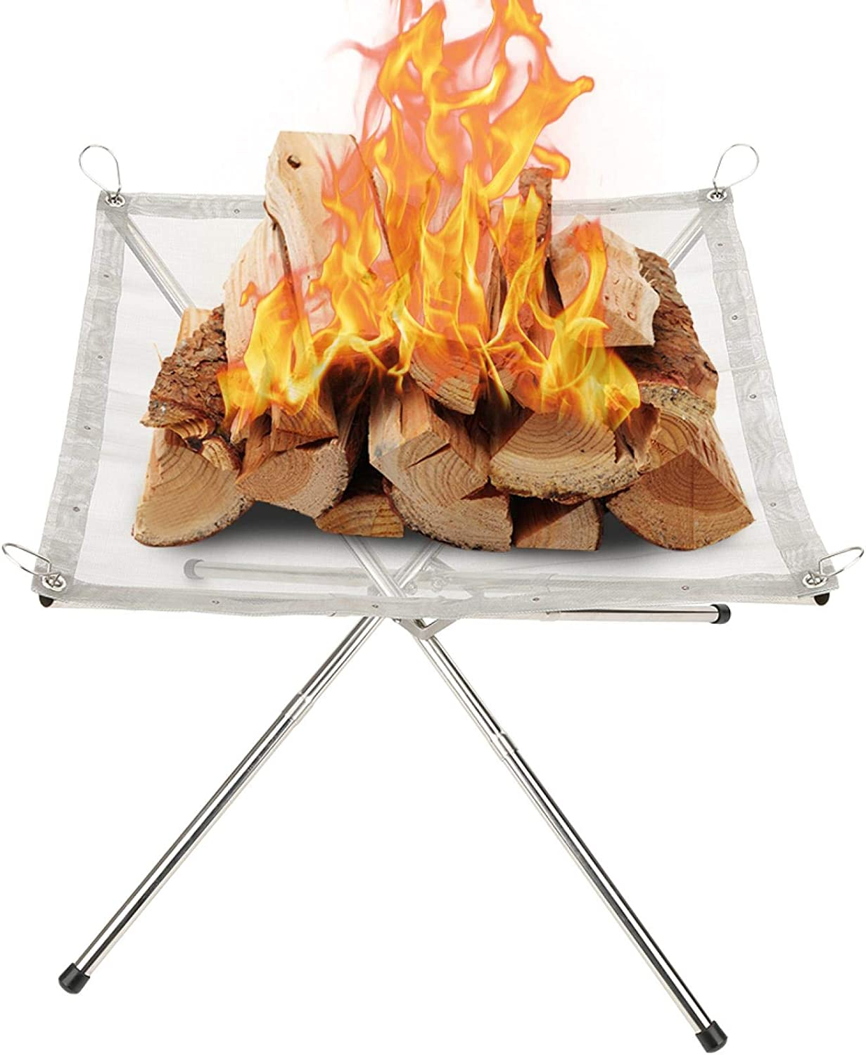 HERCHR Max 84% OFF Portable Fire Pit Outdo Camping Outdoor Outlet sale feature for
