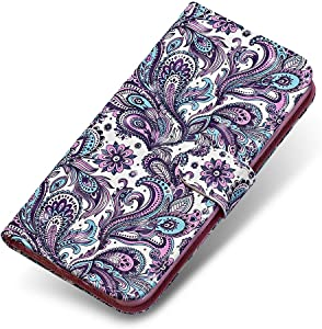 Sony Xperia XZ2 Compact Case  The Grafu  Wallet Case Leather Painted Folio Flip Cover with Free Tempered Glass Screen Protector for Sony Xperia XZ2 Compact  Multicolour