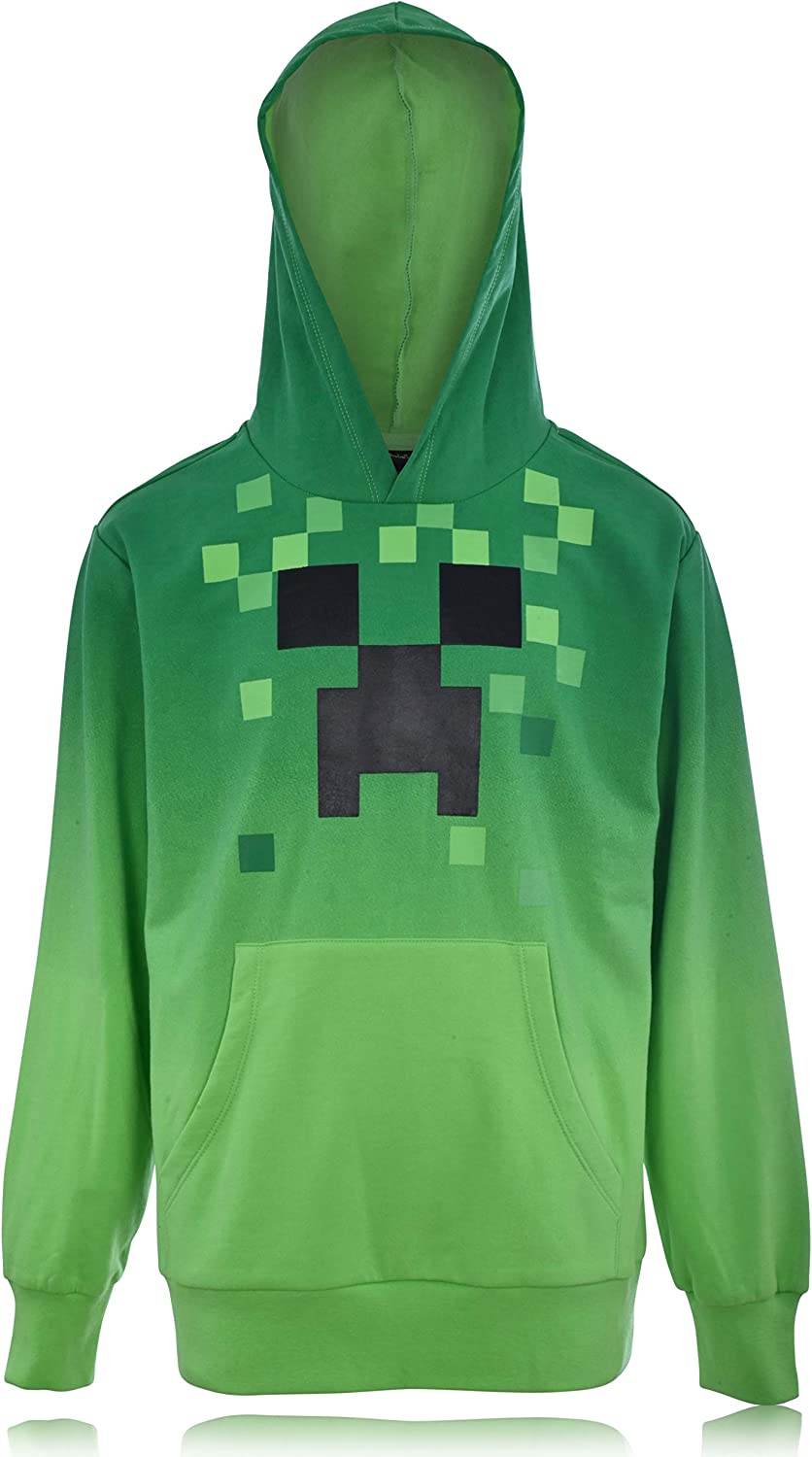 Minecraft Boys Video Ranking TOP5 Game Bargain sale Hoodie - Creeper Black Face Green and