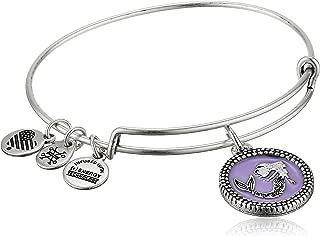 Women's Color Infusion Mermaid Charm Bangle Bracelet, Rafaelian Silver, Expandable