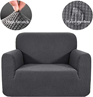HEBE Thick Stretch Sofa Slipcover Waterproof Chair Cover 1 Piece Couch Covers Dog Cat Pet Proof Sofa Chair Slipcovers Furniture Protectors,Stay in Place