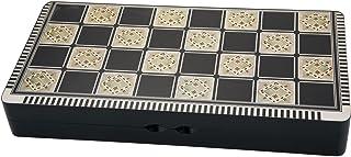 トルコスタイル ペルシャ アラビア バックギャモンシャケテ (ته نرد) チェスチェッカー(3 in 1) セット 木製 19.5x10x3インチ اولة الهر