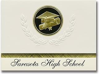 Signature Announcements Sarasota High School (Sarasota, FL) Graduation Announcements, Presidential style, Elite package of...