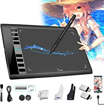 Tablet Graphics M708 UGEE Android از تبلت نقشه ای منطقه ای فعال 10 6 6 اینچی با 8 کلید داغ ، قلم سطح 8192 ، قرص های گرافیکی UGEE M708 برای رنگ ، طرح خلق هنر دیجیتال پشتیبانی می کند
