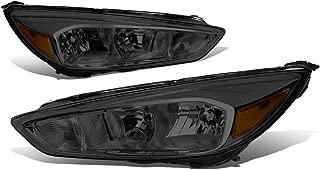 For 15-18 Ford Focus Chrome Housing Smoke Lens Amber Corner Headlights/Lamps - Pair